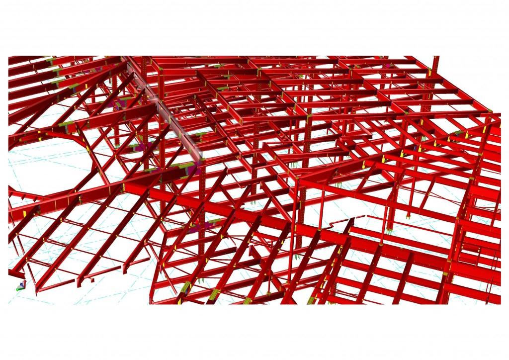 米国仕様の鋼構造建築物3Dモデル完成